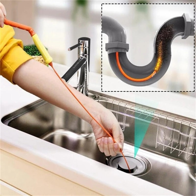 ✨Ultra-convenient kitchen drain and anti-clogging tool