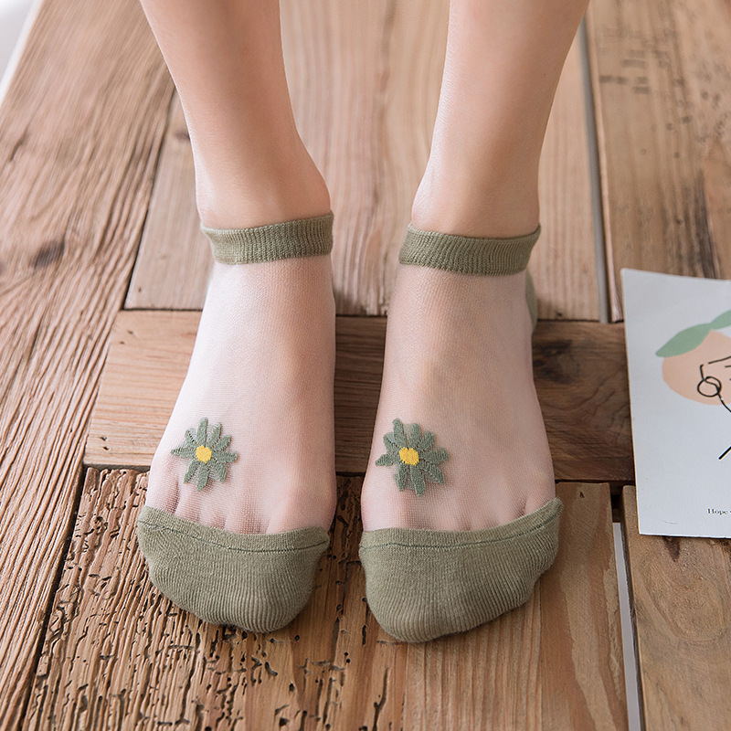 🔥Mother's Day Special🔥NOW 50% OFF?Translucent Daisy Socks