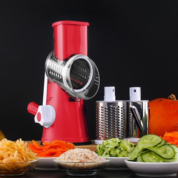 3-in-1 Manual Rotary Vegatable Fruit Slicer