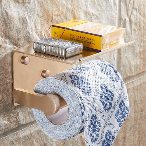 Toilet Paper Holder With Mobile Phone Shelf