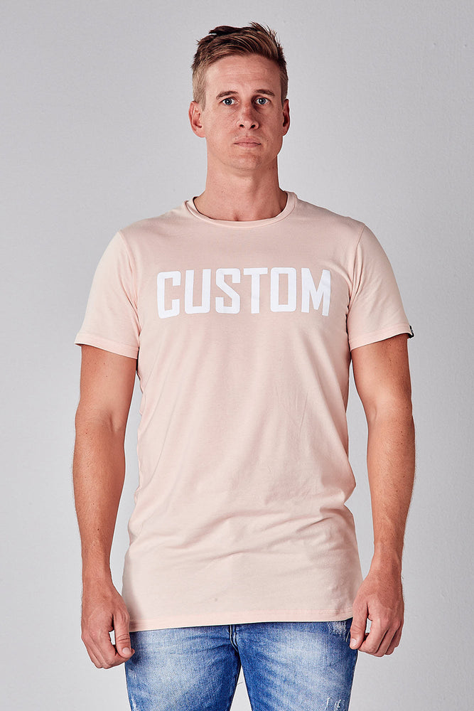 Custom Long Line Tee | Peach