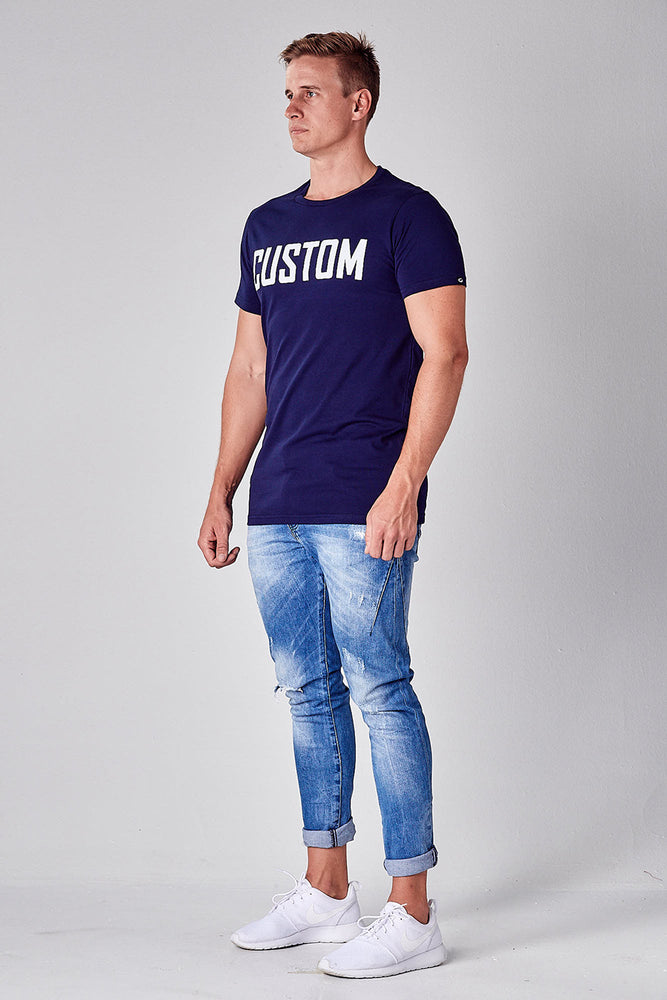 Custom Long Line Tee | Navy