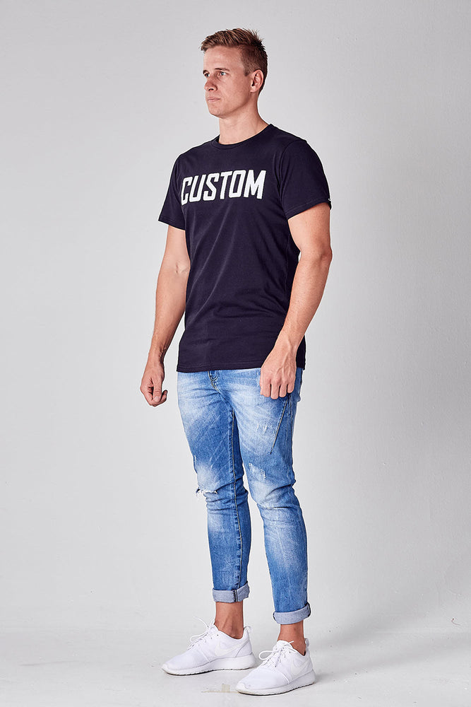 Custom Long Line Tee | Black