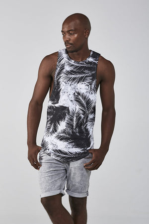 Custom Tie-Dye Sleeveless Tee | Tropical