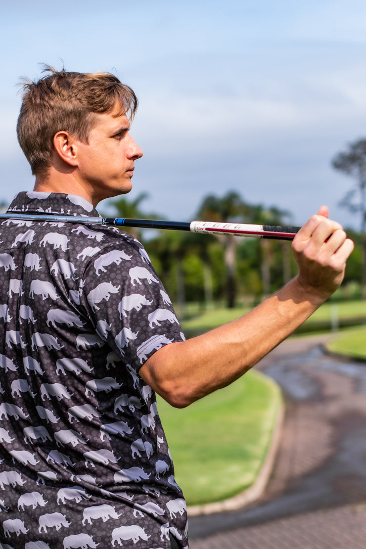 CA Golf Shirt | Save Our Rhinos