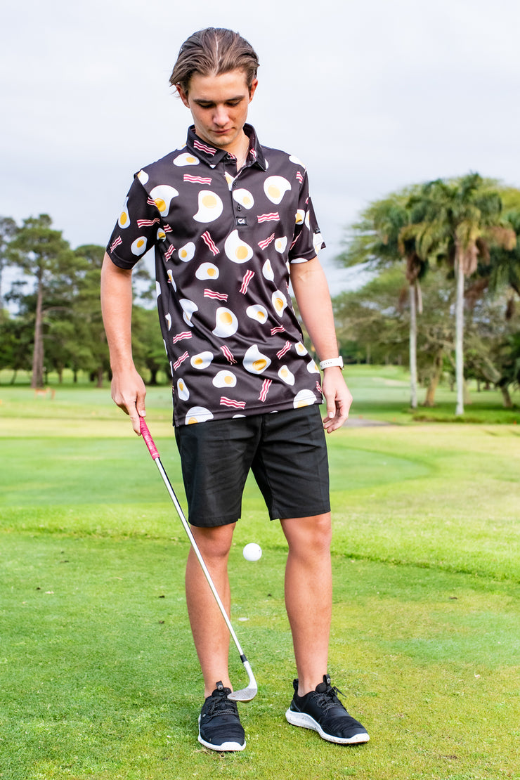 CA Funky Golf Shirt | Bacon & Eggs