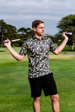 CA Funky Golf Shirt | Grey Bananas