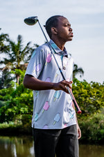 CA Funky Golf Shirt | Ice Cream - Grey