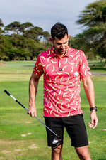 CA Funky Golf Shirt | Coral Bananas