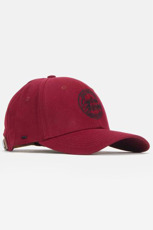 Custom Social Peak Cap | Burgundy