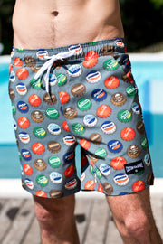 CA Hybrid Board Shorts | Bottle Caps