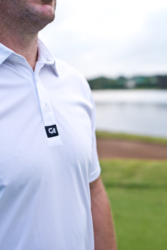 CA Iconic Golf Shirt | White