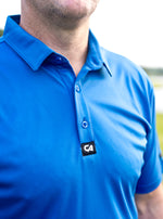 CA Iconic Golf Shirt | Royal blue
