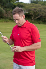 CA Iconic Golf Shirt | Red