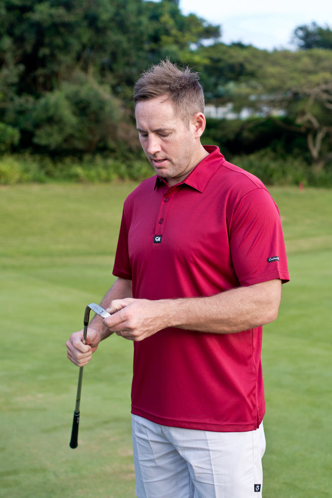 CA Iconic Golf Shirt | Burgundy