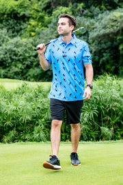 CA Funky Golf Shirt | Blue Toucans