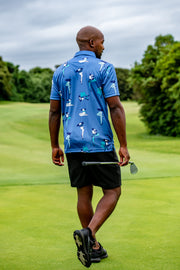 Funky Golf Shirt | Blue Burlesque