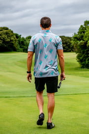 CA Funky Golf Shirt | Grey Cactus