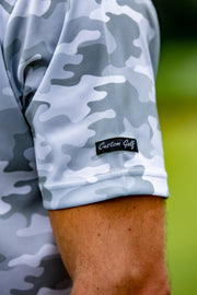 CA Funky Golf Shirt | White Camo