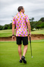 CA Funky Golf Shirt | Pink Pineapple