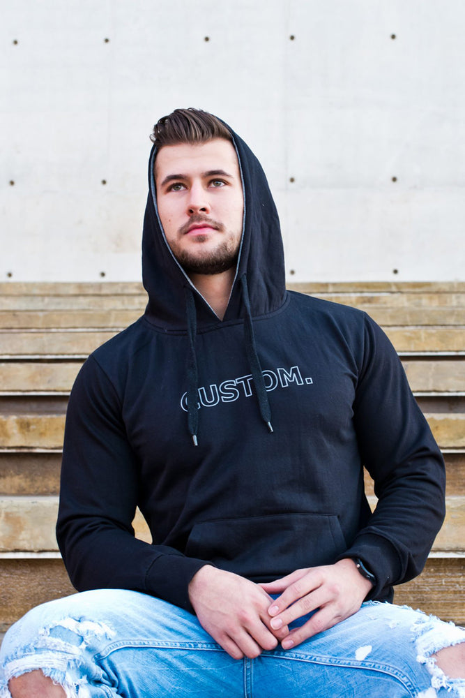 Custom Pull Over Hoodie | Black