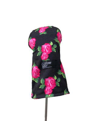Driver Head Cover | Black Roses