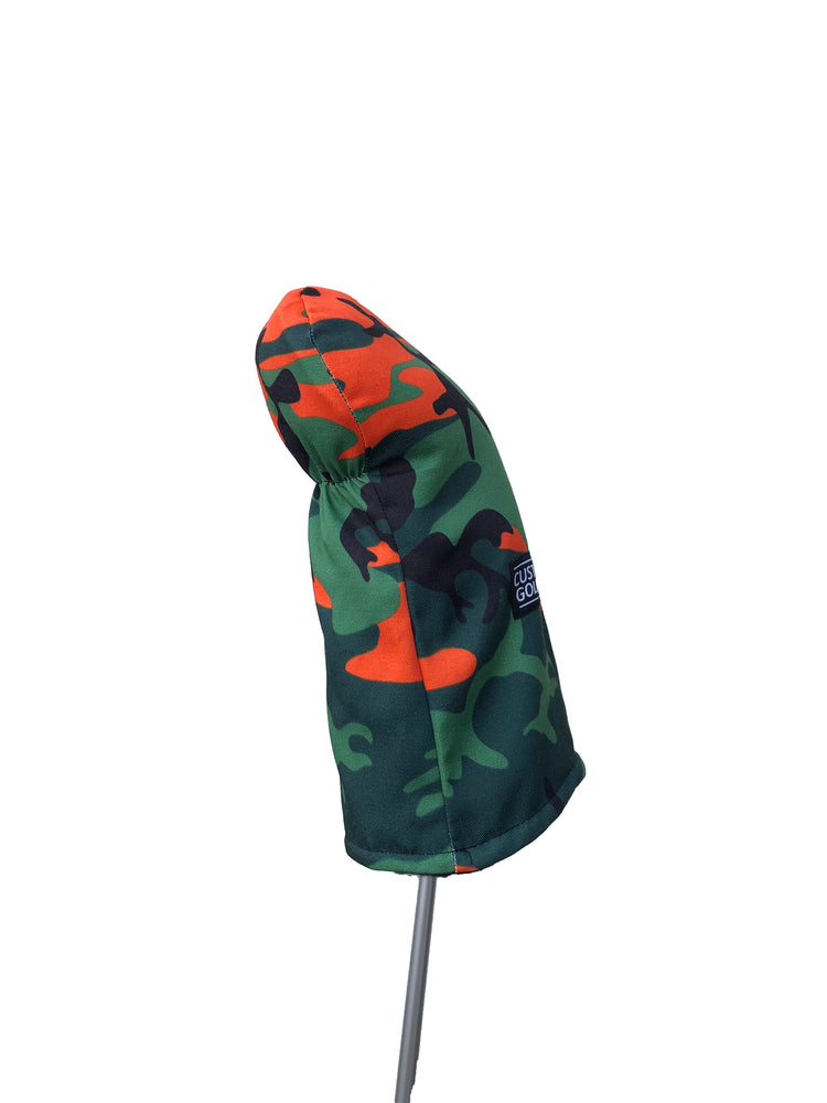 Driver Head Cover | Orange Camo