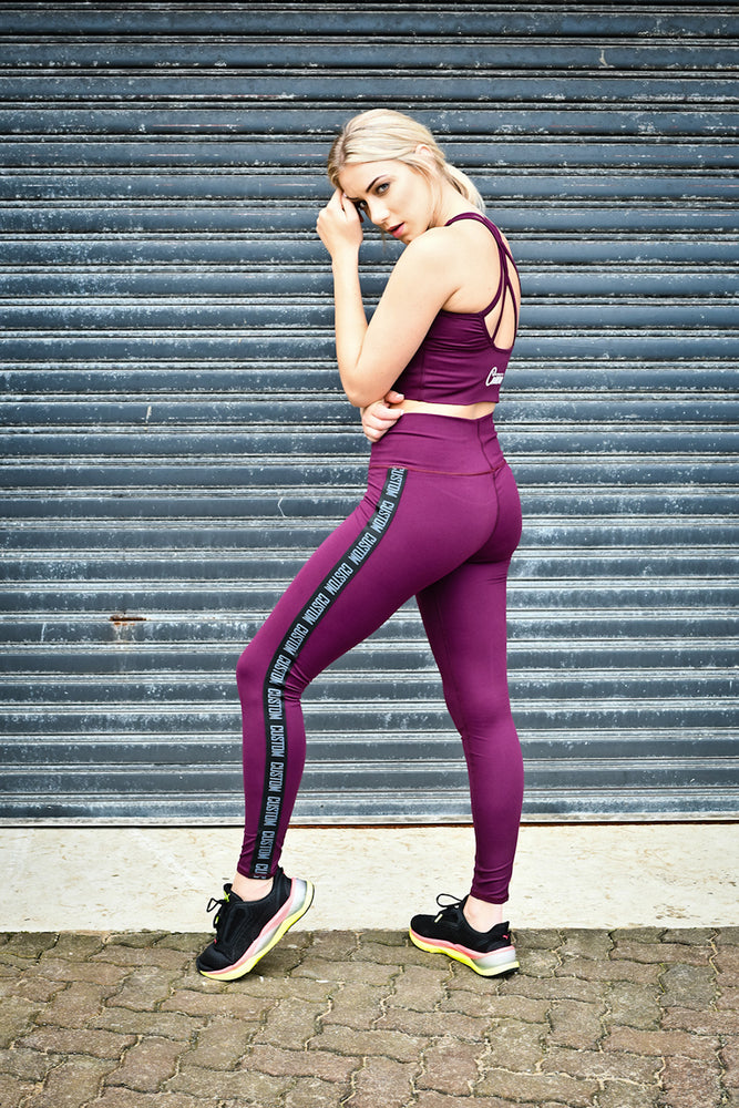 CA Street-Style Tights | Burgundy