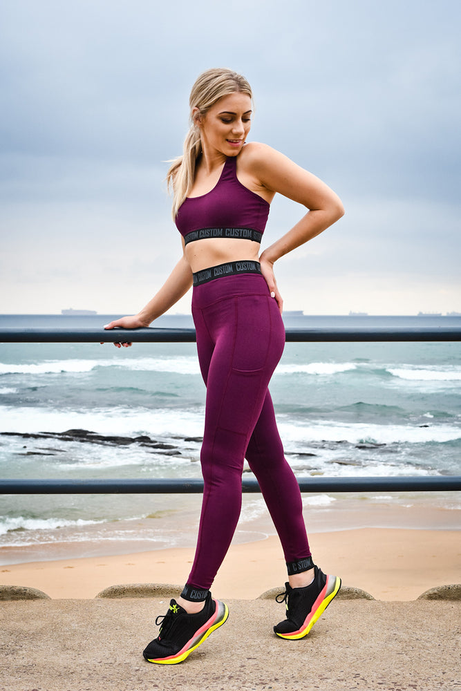 CA Elite Fit Tights | Burgundy