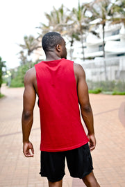 Custom Muscle Vest | Deep Red