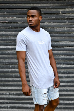 Custom Signature Tee | Grey Melange