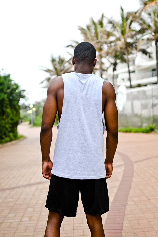 Custom Muscle Vest | Grey Melange