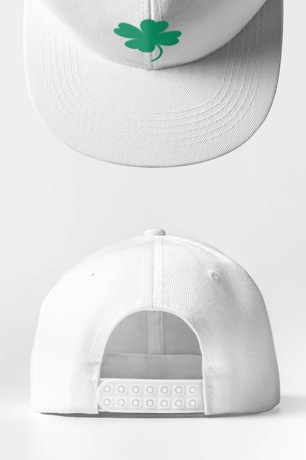 Custom Golf Snap Back Cap | White Clover