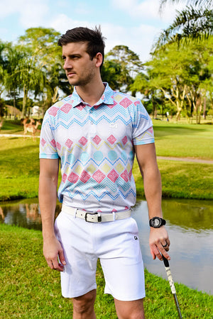 CA Ethnic Golf Shirt | Grey