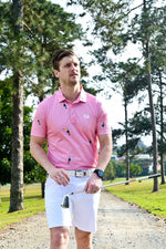 CA Toucan Golf Shirt | Pink