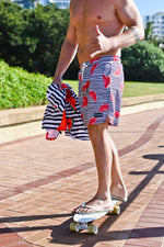 CA Hybrid Board Shorts | Watermelon