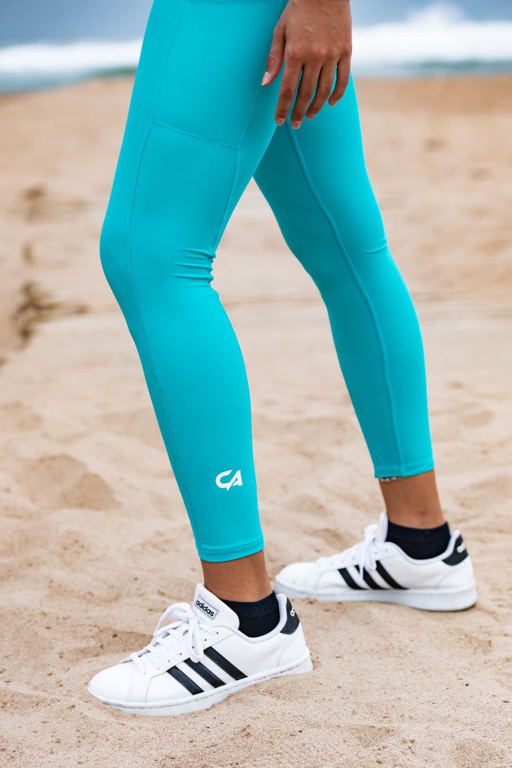 High-Waisted Platinum 2.0 Tights | Sea Green