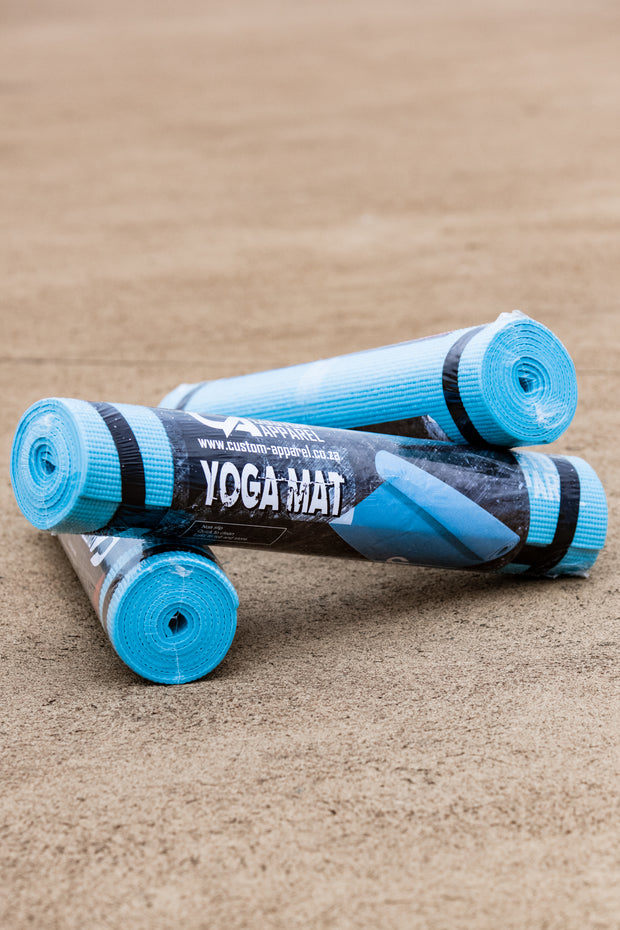 CA 6mm Non Slip PVC Yoga Matt - Light Blue