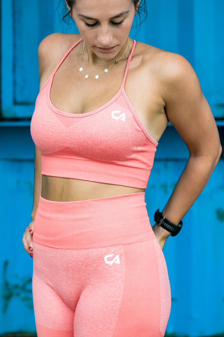 Seamless Adapt Crop Top | Coral