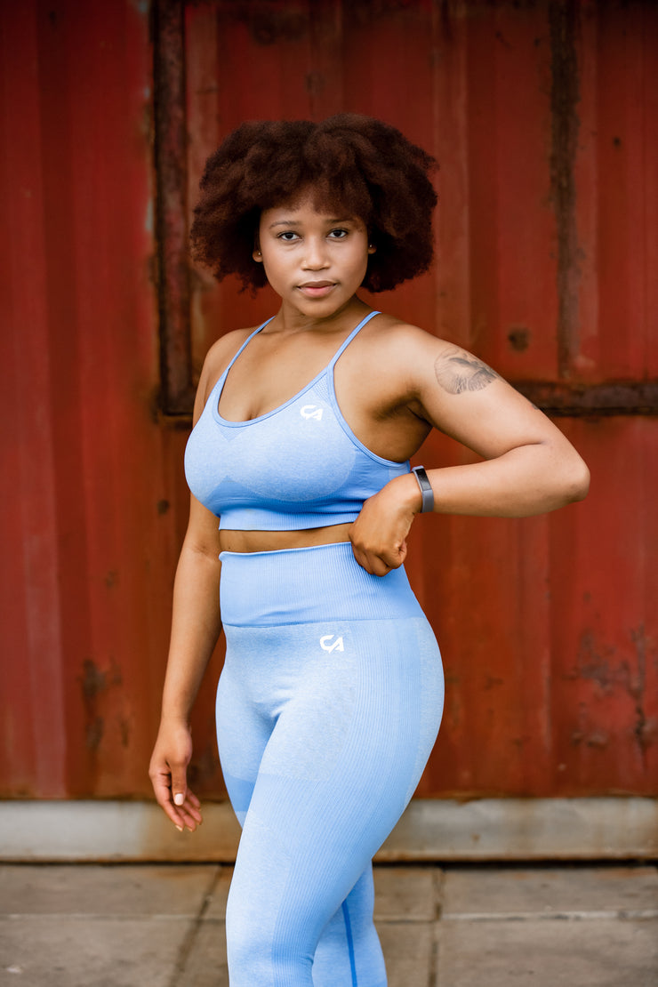 Seamless Adapt Crop Top | Baby Blue