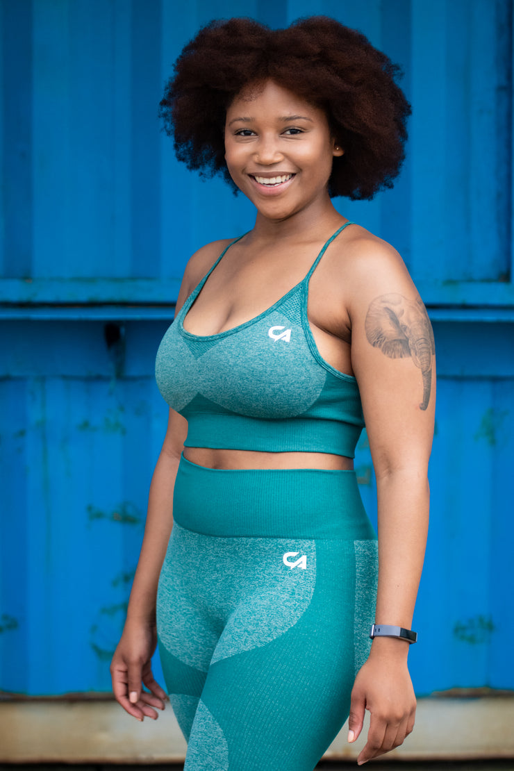 Seamless Adapt Crop Top | Sea Green