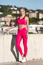 CA 'Scrunchy' Tights | Bright Pink