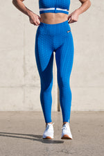 CA 'Waffle' Tights | Royal Blue
