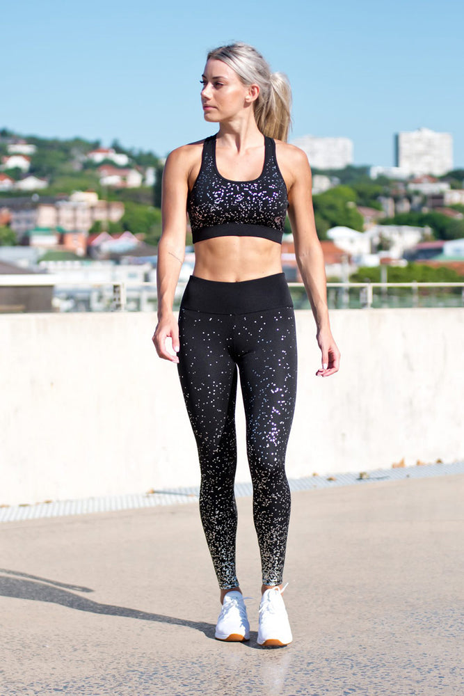CA 'Vibe Foil' Tights | Black / Silver
