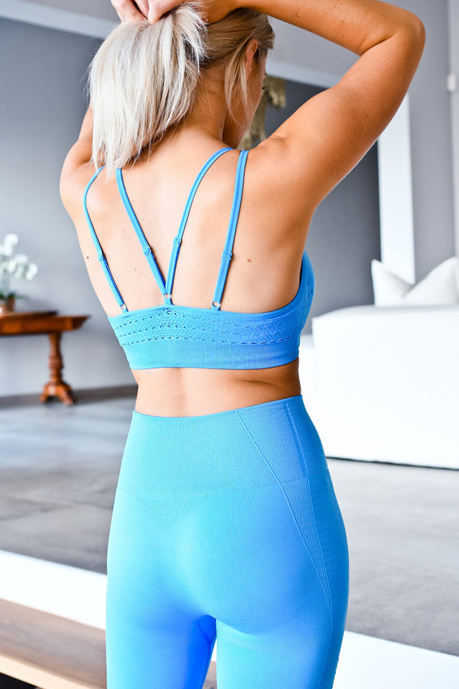 CA Seamless Sports Bra | Sky Blue