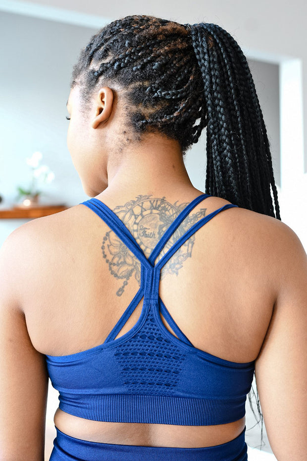 CA Seamless Sports Bra | Navy