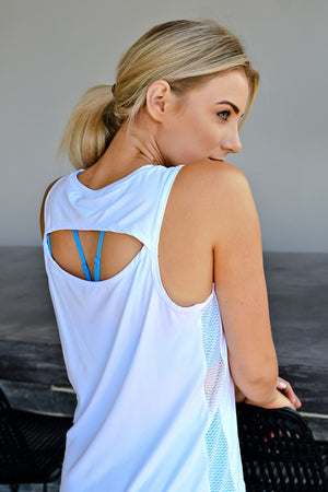 CA Energy Open Back Vest | White