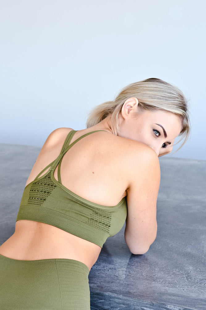 CA Seamless Sports Bra | Olive