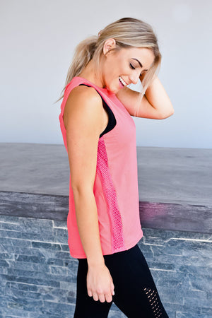 CA Energy Open Back Vest | Coral