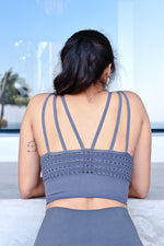 CA Seamless Sports Bra | Shark Skin